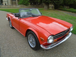 1972 Triumph TR6, red on black, last owner over 20 years!!
