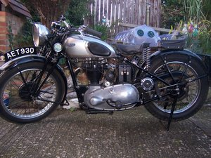 1938 Triumph Tiger 90 for restoration/recommisioning