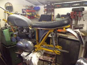 1961 Triumph Tiger 90 flat tracker project