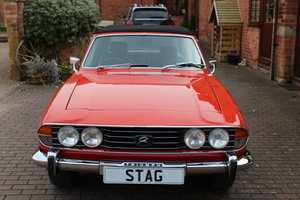 Triumph Stag Mk11 1973 Auto in Red.    ((Sorry Now Sold))