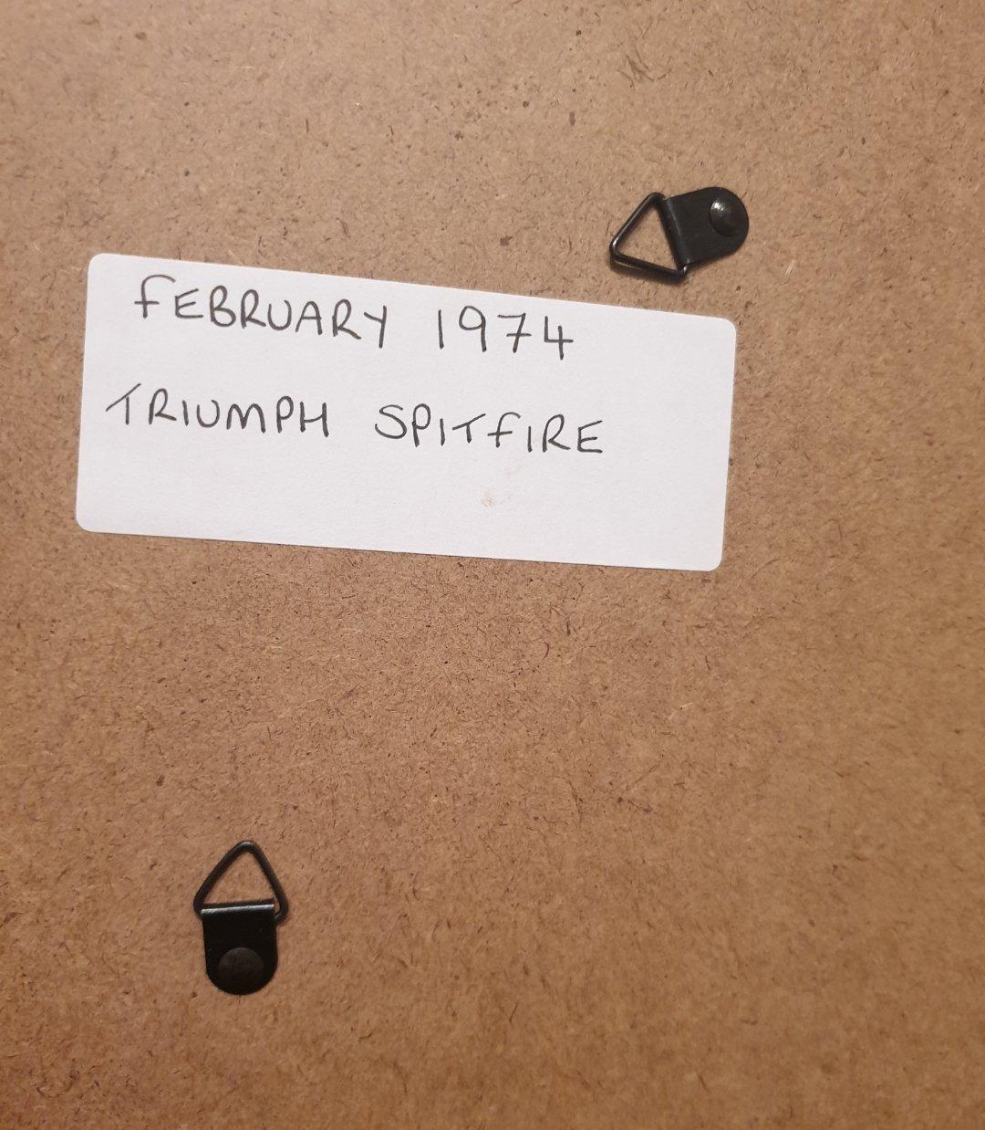 Original 1974 Triumph Spitfire Framed Advert For Sale (picture 2 of 3)