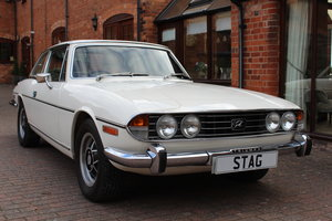 Triumph Stag Mk11 Manual in White. SOLD MORE IN STOCK SOON