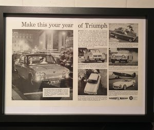 1964 Triumph Framed Advert Original  For Sale