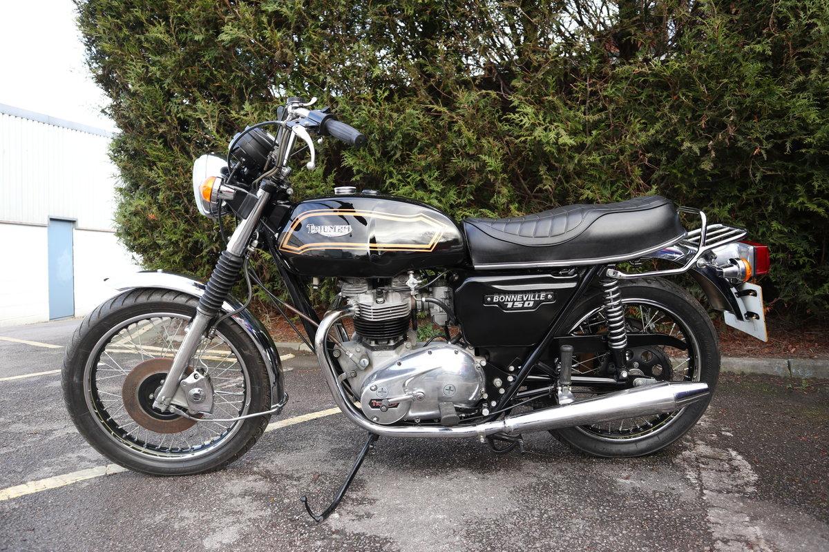 1980 Triumph T140 Bonneville 750cc Matching Number For Sale (picture 4 of 6)