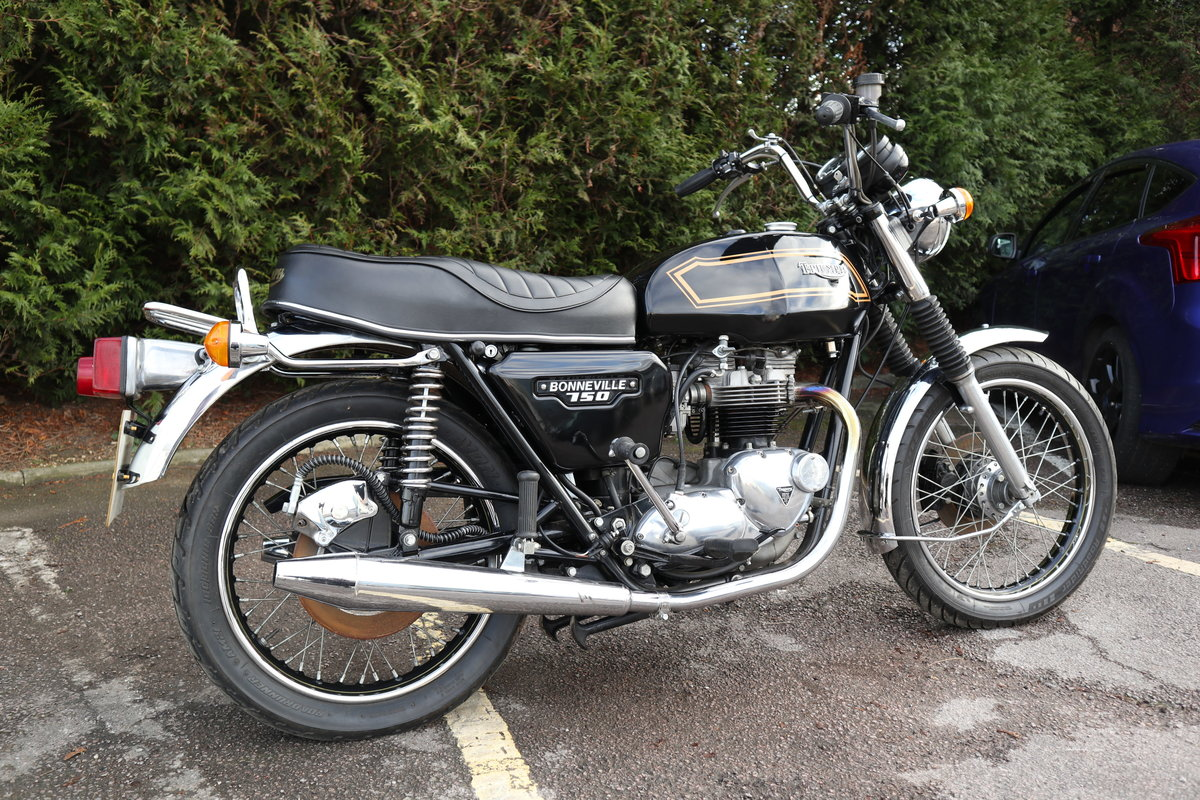 1980 Triumph T140 Bonneville 750cc Matching Number For Sale (picture 5 of 6)