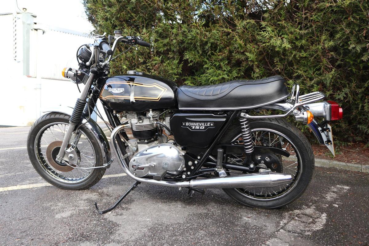 1980 Triumph T140 Bonneville 750cc Matching Number For Sale (picture 6 of 6)