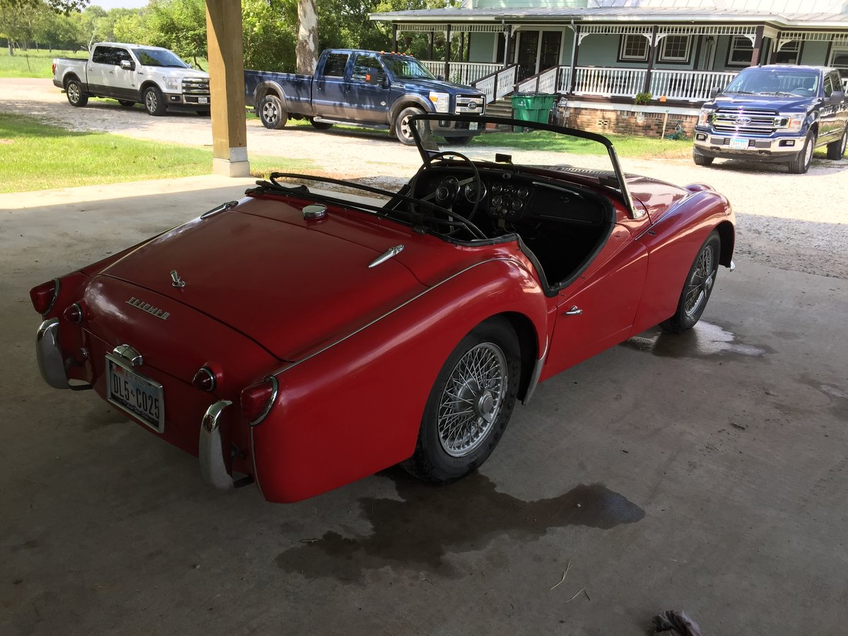 Triumph TR3a 1960 LHD SOLD (picture 4 of 6)