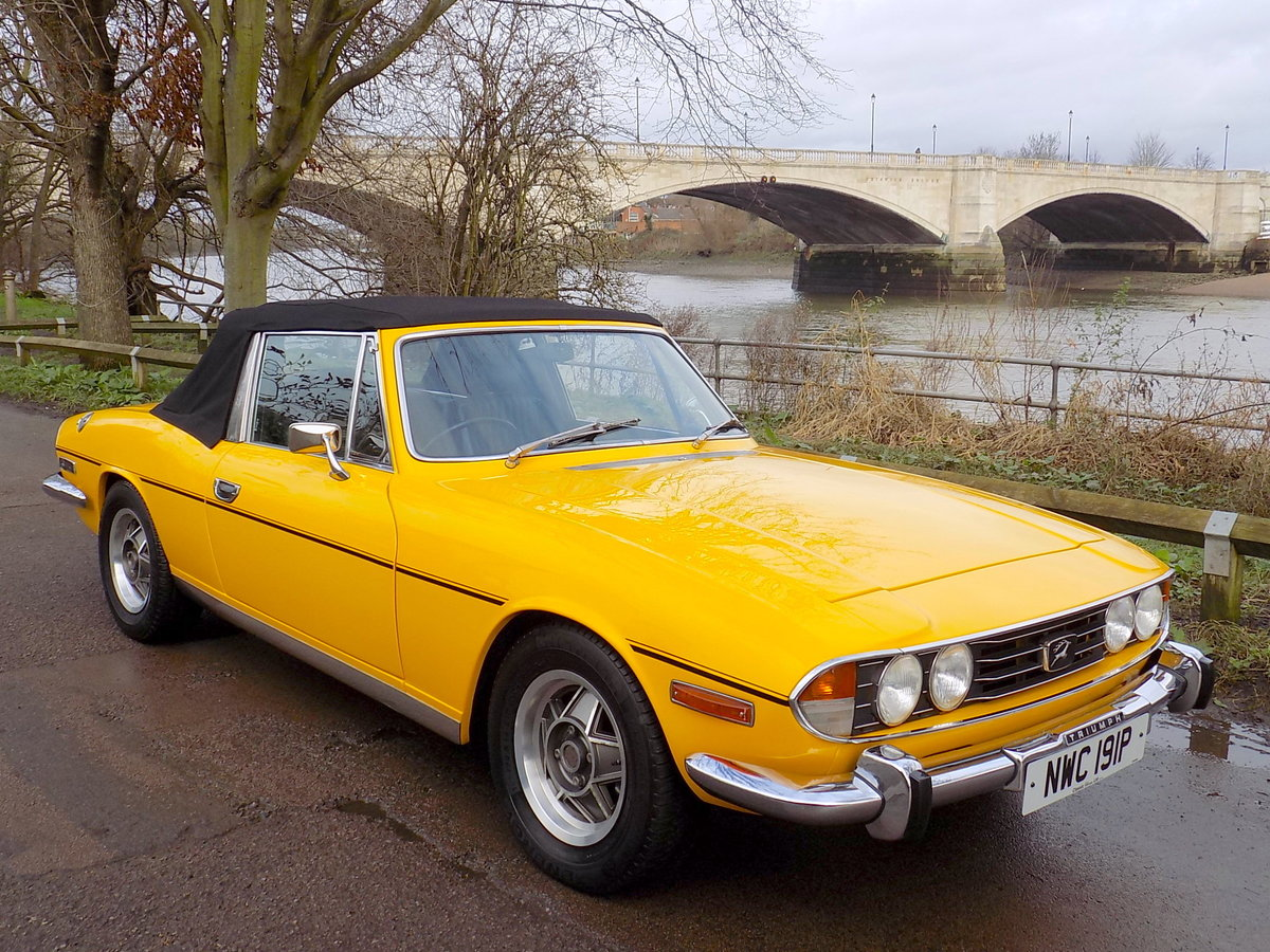 1976 TRIUMPH STAG MKII MANUAL WITH OVERDRIVE - RESTORED  SOLD (picture 1 of 6)