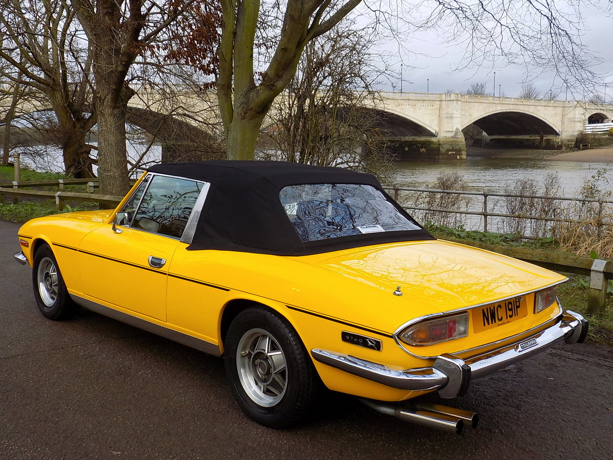 1976 TRIUMPH STAG MKII MANUAL WITH OVERDRIVE - RESTORED  SOLD (picture 2 of 6)
