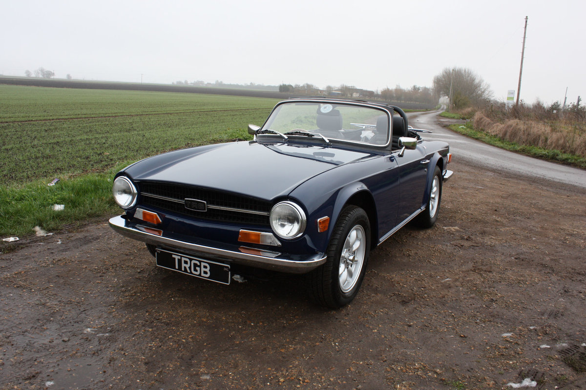 TR6 1972. SAPPHIRE BLUE, GENUINE 150 BHP UK CAR WITH OVERDRI SOLD (picture 1 of 6)