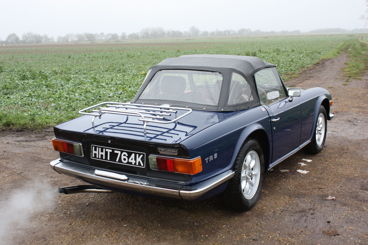 TR6 1972. SAPPHIRE BLUE, GENUINE 150 BHP UK CAR WITH OVERDRI SOLD (picture 6 of 6)