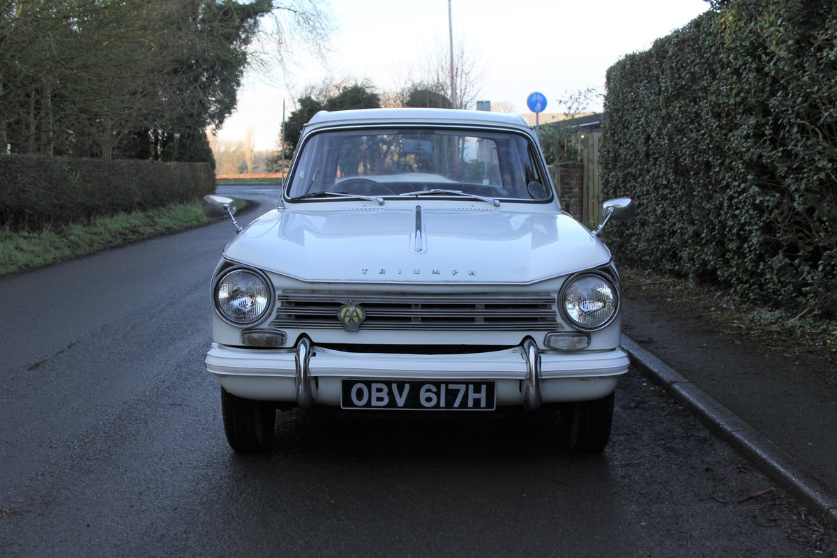 1970 Triumph Herald 13/60, 53700 miles, Superb History For Sale (picture 2 of 17)