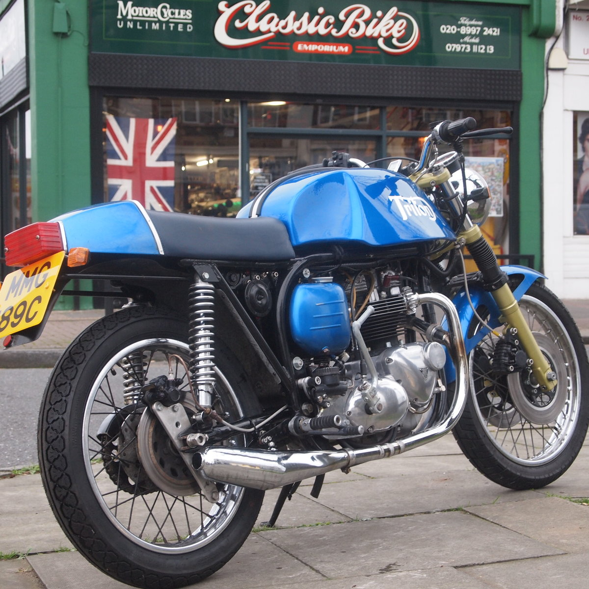 1965 Triumph T140 Triton Cafe Racer. RESERVED FOR NORMAN. SOLD (picture 1 of 6)