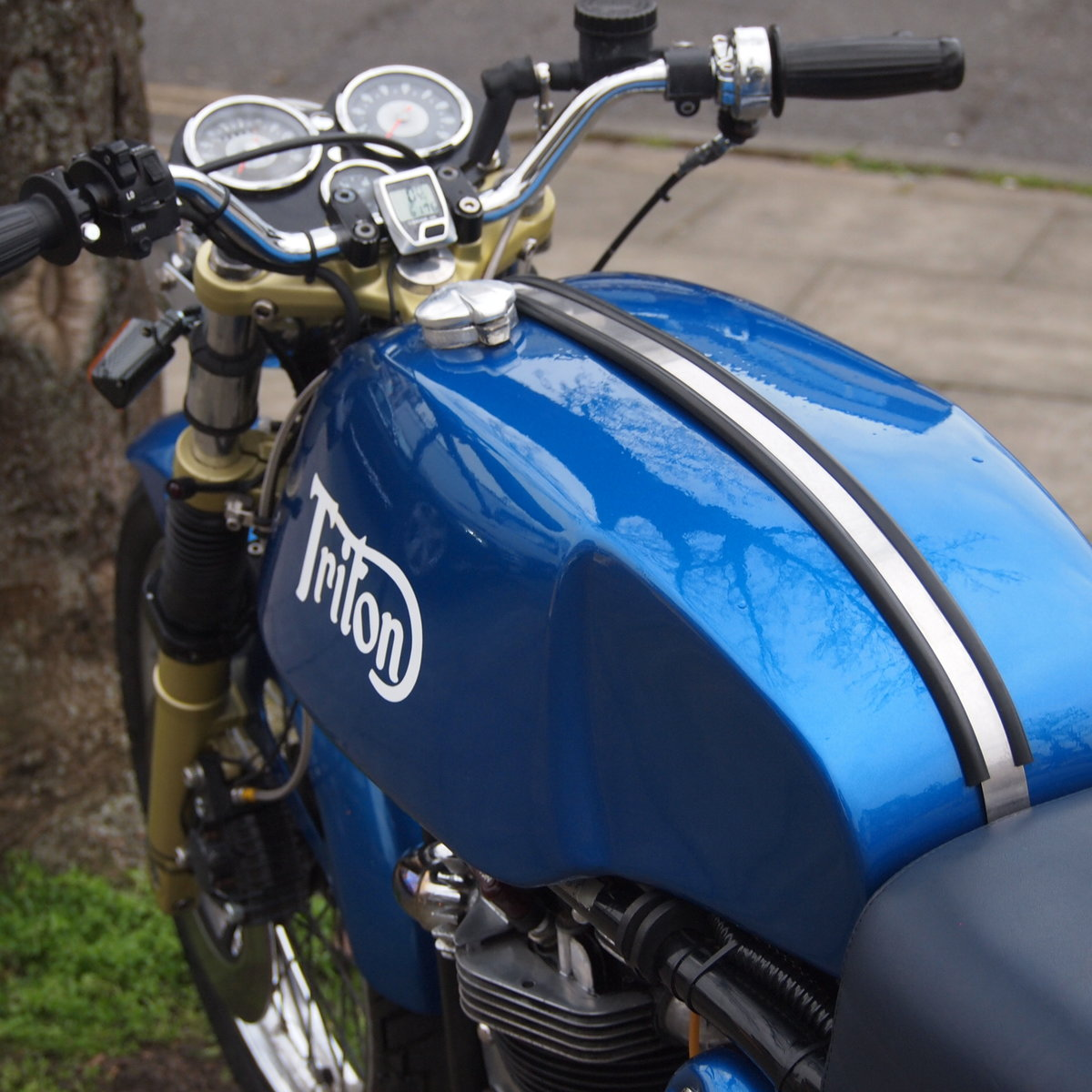 1965 Triumph T140 Triton Cafe Racer. RESERVED FOR NORMAN. SOLD (picture 2 of 6)