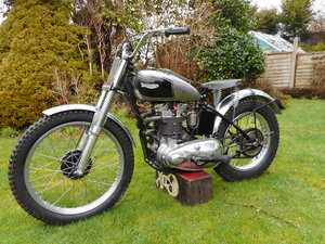 1947 Vintage triumph trials tiger 100 gp rigid