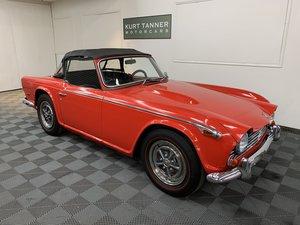 1968 Triumph tr250 convertible. Signal red