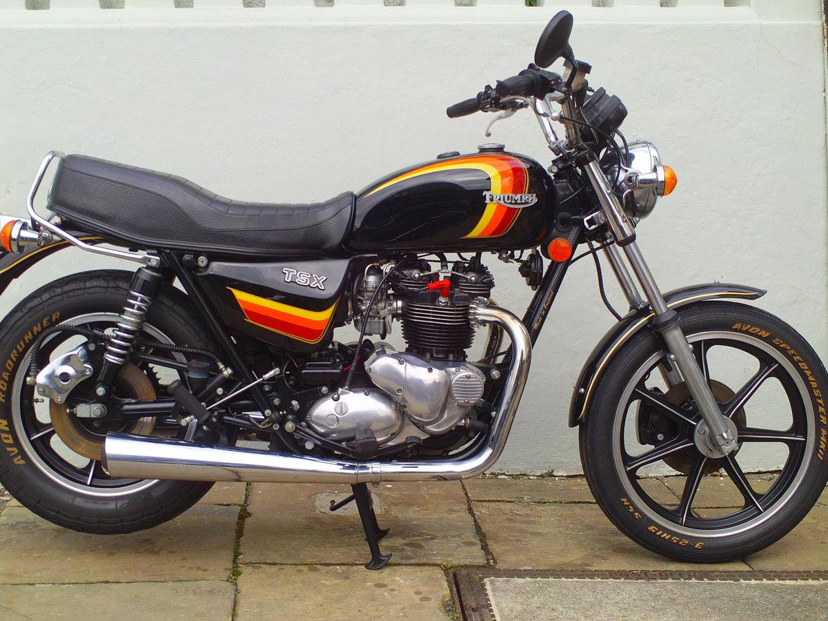 1983 TRIUMPH BONNEVILLE TSX SOLD (picture 1 of 6)