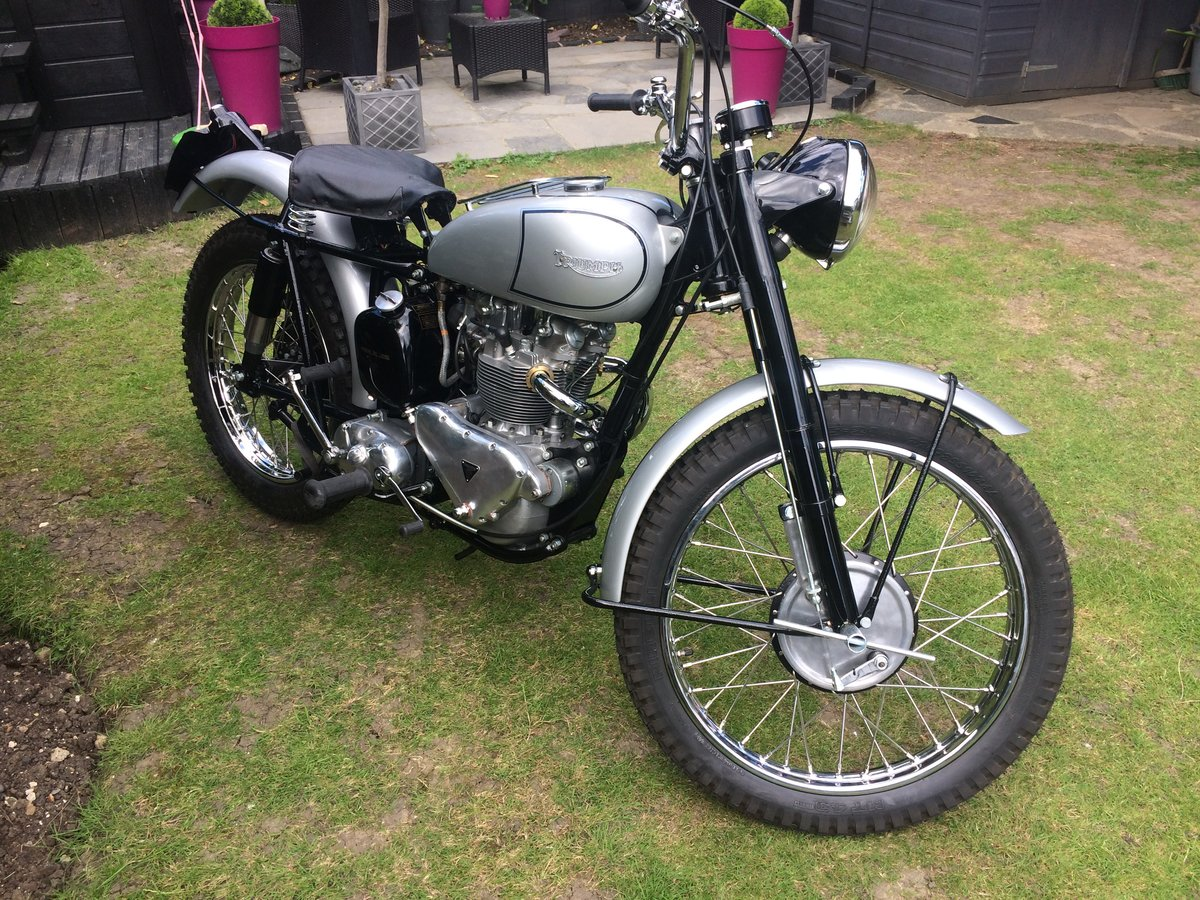 1951 FAMOUS RIDER TRIUMPH TROPHY TR5  For Sale (picture 1 of 4)