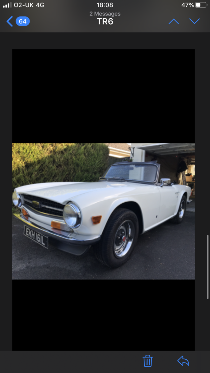 1972 Beautiful Triumph TR6  For Sale (picture 5 of 6)