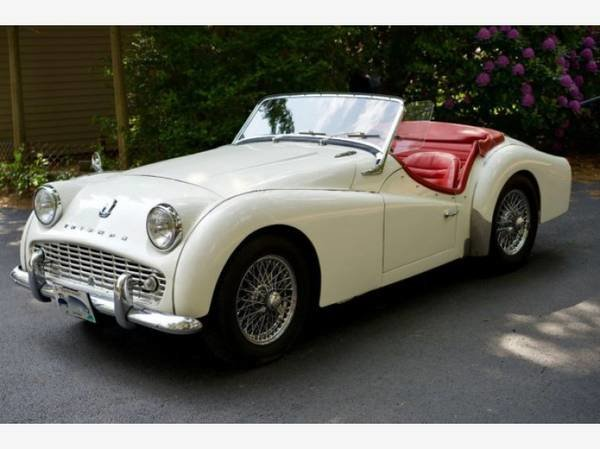 1958 Triumph TR3A Roadster Convertible LHD  Ivory $15.9k For Sale (picture 1 of 3)