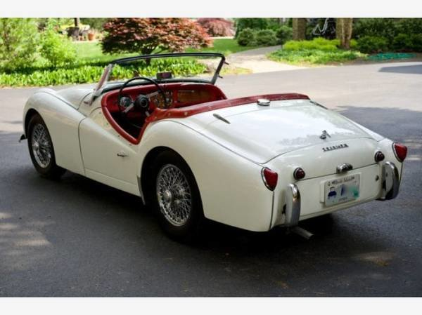 1958 Triumph TR3A Roadster Convertible LHD  Ivory $15.9k For Sale (picture 2 of 3)