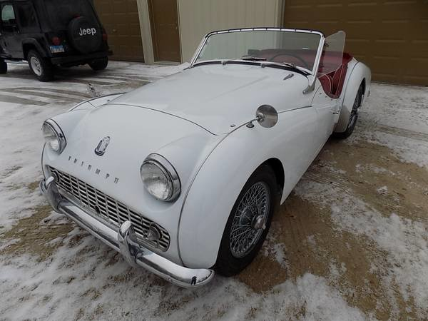 1958 Triumph TR3A Roadster Convertible LHD  Ivory $15.9k For Sale (picture 3 of 3)