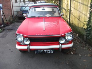1968 SIGNAL RED HERALD CONVERTIBLE