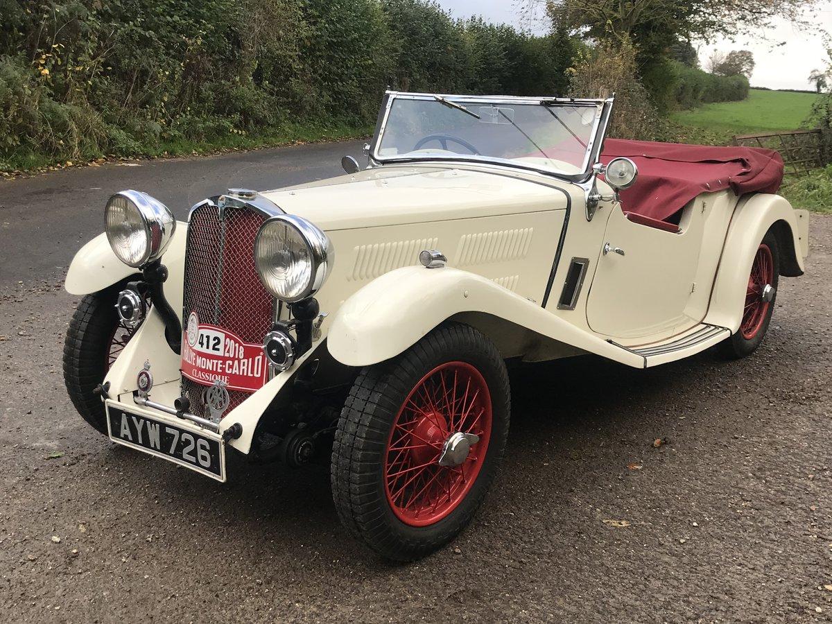 1934 Triumph Gloria Monte Carlo Sports Tourer For Sale (picture 1 of 5)