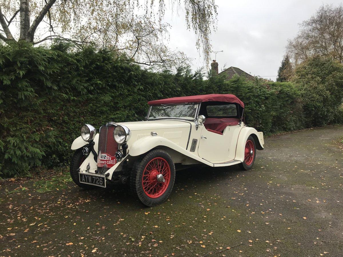 1934 Triumph Gloria Monte Carlo Sports Tourer For Sale (picture 4 of 5)