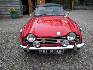 1968 Triumph TR5 uk home market RHD model    SOLD (picture 1 of 6)