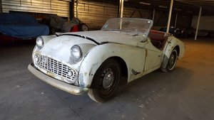 Triumph TR3 B 1962 Restoration project For Sale