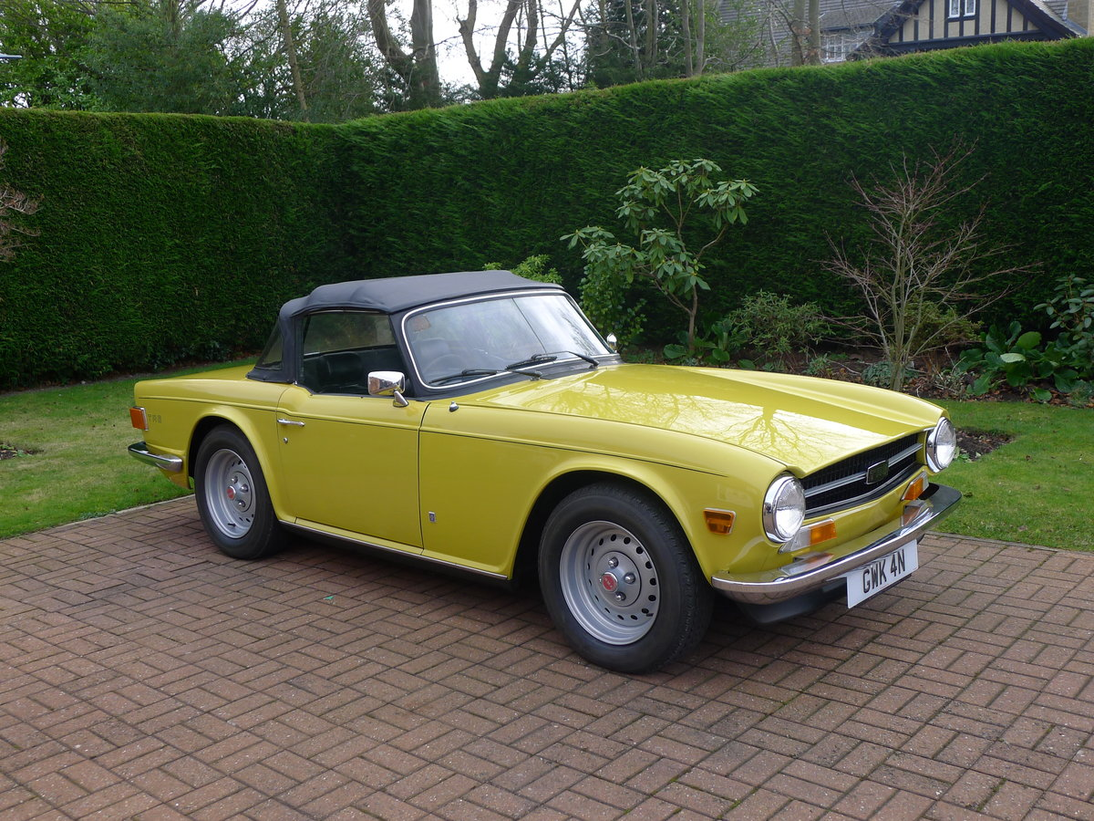 1974 Triumph TR6 Pi,Genuine car 60000miles with history For Sale (picture 1 of 6)