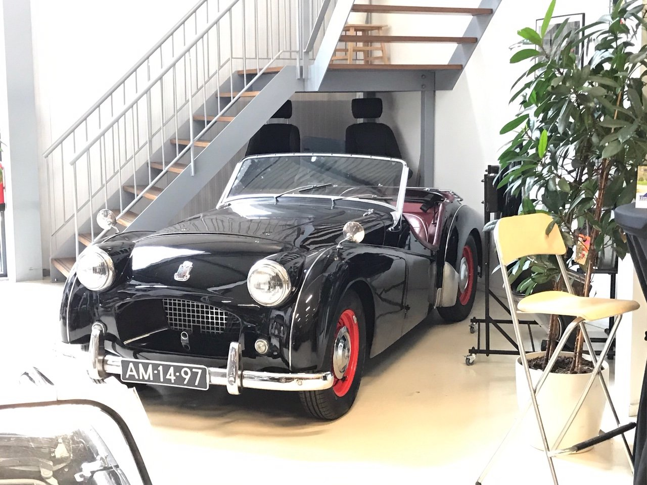 1955 Very nice Triumph TR2 Long Door with Overdrive For Sale (picture 3 of 6)