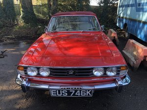 MK 1 Triumph Stag Automatic in Signal Red.