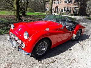 Picture of Triumph TR3 red 1959   28900 euro. SOLD