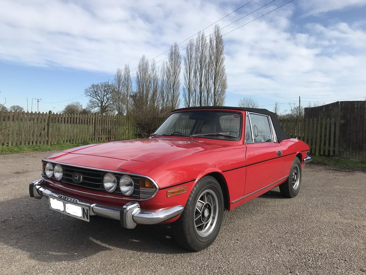 1975 TRIUMPH STAG LOW MILES OUTSTANDING For Sale (picture 1 of 6)