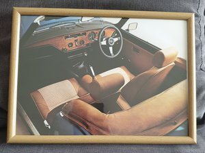 Original Triumph Spitfire Framed Advert