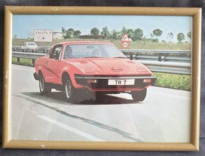 1978 Original Triumph TR7 Framed Advert