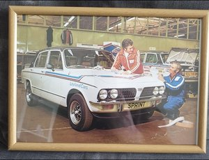 1978 Dolomite Sprint Framed Advert Original