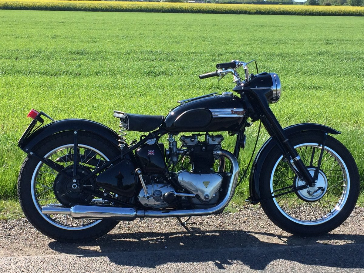 1953 Restored Tiger 100 with rigid frame For Sale (picture 1 of 6)