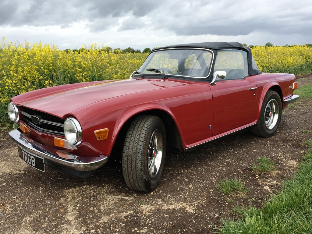 TR6 1973. CARMINE RED WITH BLACK INTERIOR. SOLD (picture 5 of 6)