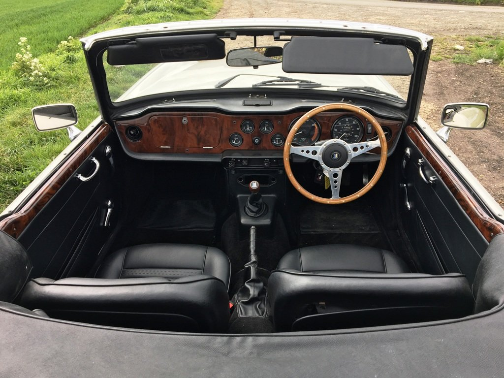 1972 TR6 1973 GENUINE UK 150BHP CAR WITH OVERDRIVE SOLD (picture 2 of 6)