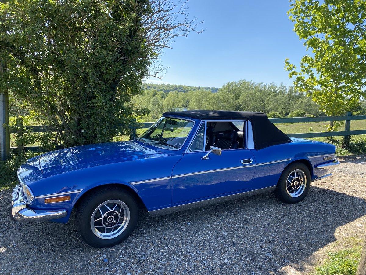 1975  Triumph STAG TAHITI BLUE  For Sale (picture 1 of 6)
