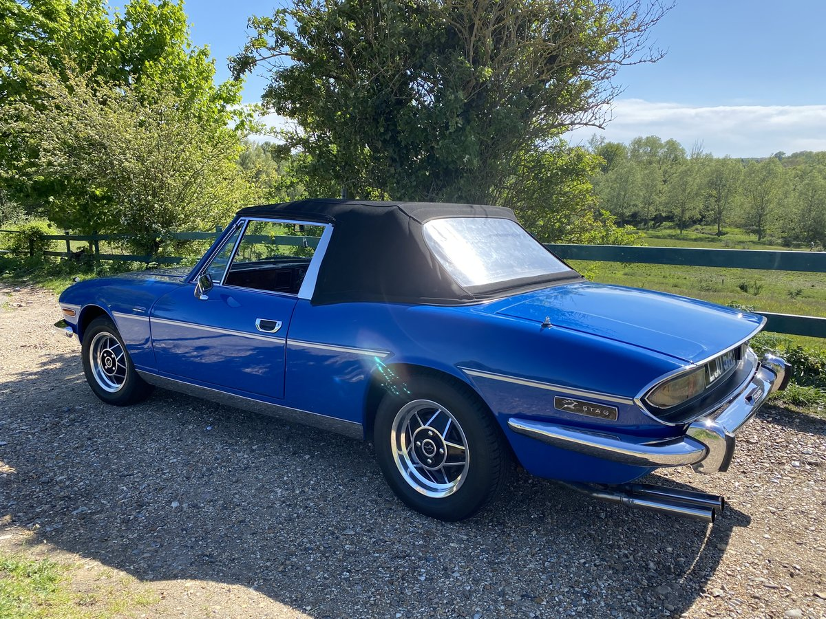 1975  Triumph STAG TAHITI BLUE  For Sale (picture 2 of 6)