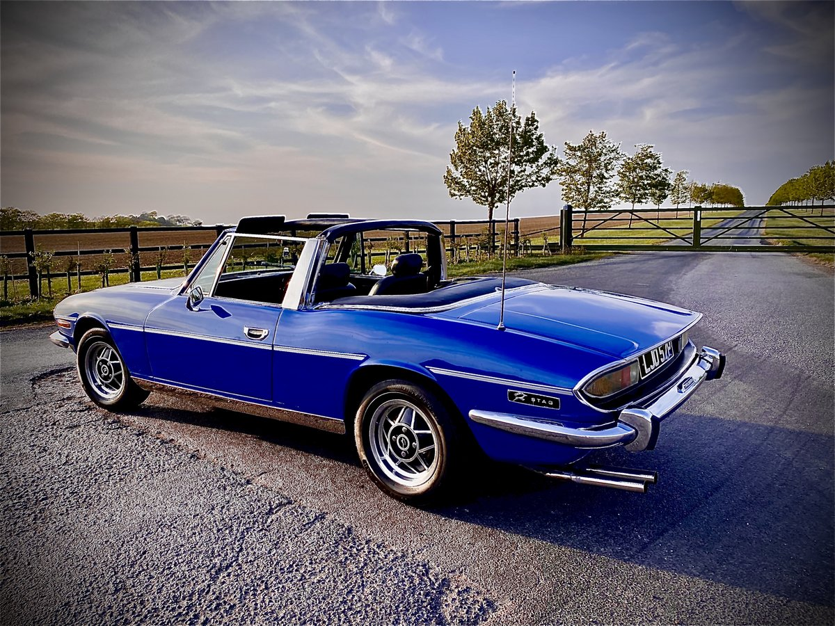 1975  Triumph STAG TAHITI BLUE  For Sale (picture 4 of 6)