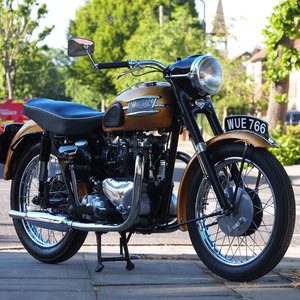 1957 Triumph 6T Thunderbird 650 Matching Numbers Machine. For Sale