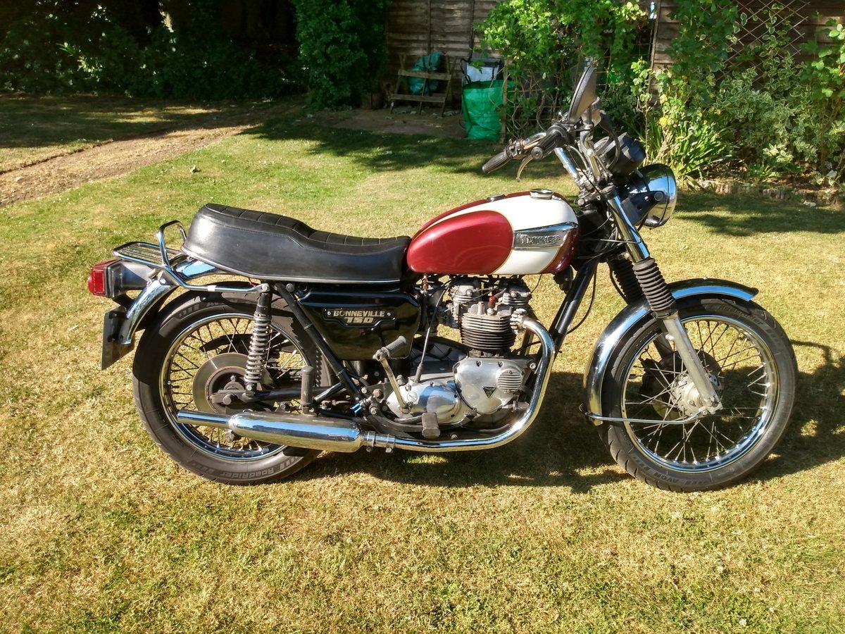 Triumph T140 E Bonneville  Original UK bike 1979  For Sale (picture 1 of 6)