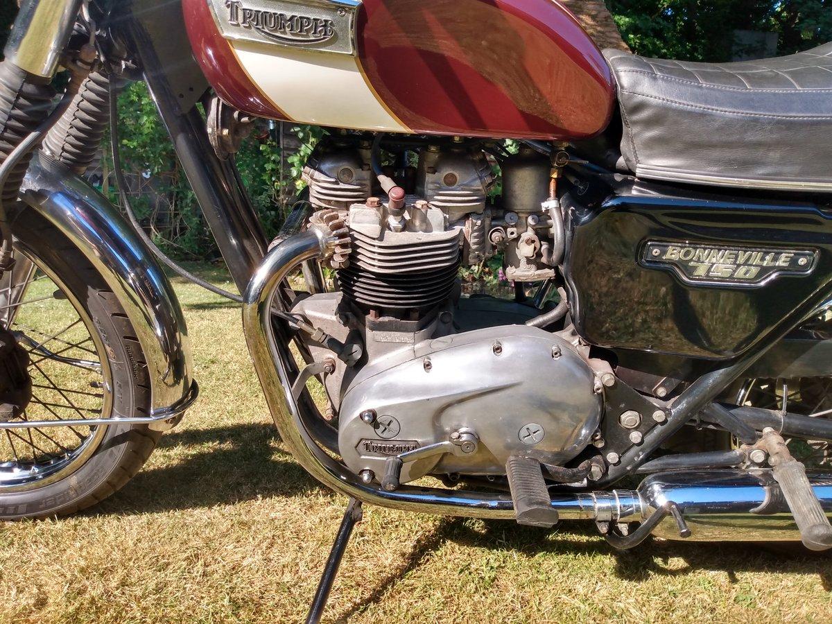 Triumph T140 E Bonneville  Original UK bike 1979  For Sale (picture 2 of 6)