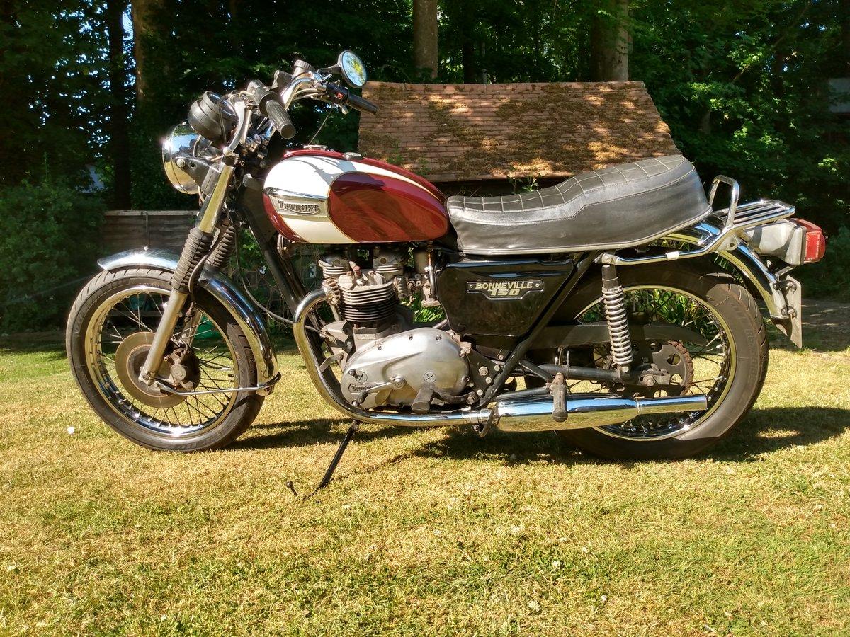 Triumph T140 E Bonneville  Original UK bike 1979  For Sale (picture 3 of 6)