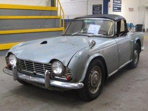 1964 Triumph TR4 LHD NO RESERVE at ACA 20th June  For Sale